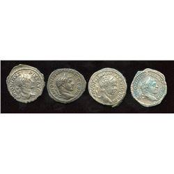 Caracalla, (198-217 AD) Denarii (4)