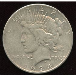 1934 S USA Silver Dollar