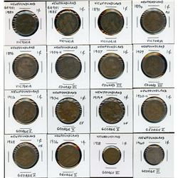 Newfoundland One Cent - Lot of 22