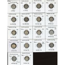Newfoundland Five Cents - Lot of 18