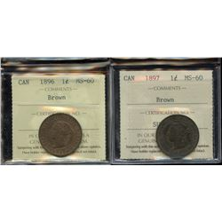 1896 & 1897 ICCS Graded One Cents