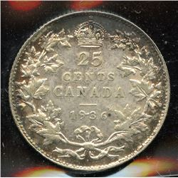 1936 Dot Twenty-Five Cents