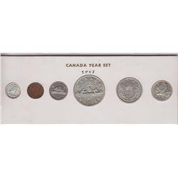 1957 Canada Year Set in Folder