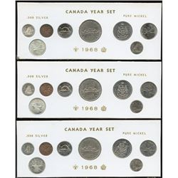 1968 Canada Year Sets with Silver - Lot of 3