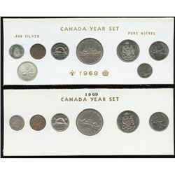 1968 & 1969 Canada Year Sets