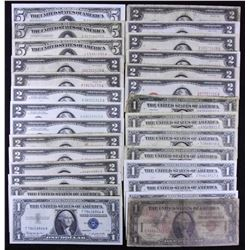 United States of America Banknote Lot of 28 Notes