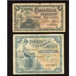 Belgian Congo-Rwanda-Urundi Banknotes