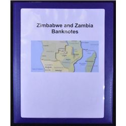 Zimbabwe & Zambia Banknote Collection