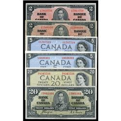 Bank of Canada Lot of Notes