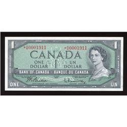 Bank of Canada $1, 1954 - Replacement Birth Year Note