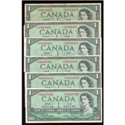 Bank of Canada $1, 1954 - Lot of 6 Replacement Notes