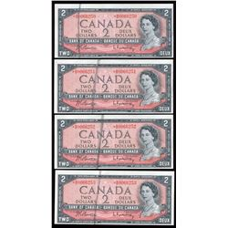 Bank of Canada $2, 1954 - Replacement Errors