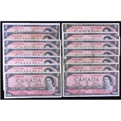 Bank of Canada $2, 1954 Replacement Lot