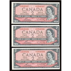 Bank of Canada $2, 1954 Replacement Trio