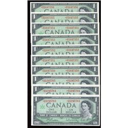 Bank of Canada $1, 1967 - Lot of 10 Replacement Notes