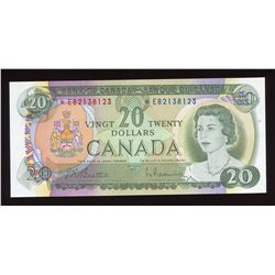Bank of Canada $20, 1969 Replacement Note