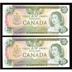 Bank of Canada $20, 1979 Replacement Lot of 2