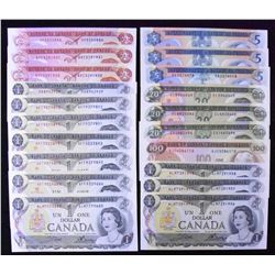 Bank of Canada Multi-Coloured Series - Lot of 20 Notes