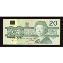 Bank of Canada $20, 1991 Replacement Note