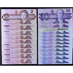 Bank of Canada Bird Series Lot of 22 Notes