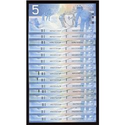 Bank of Canada $5, 2001 - 2004 - Lot of 15 Notes