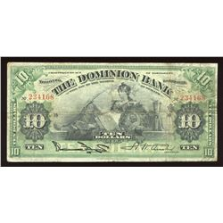Dominion Bank $10, 1925