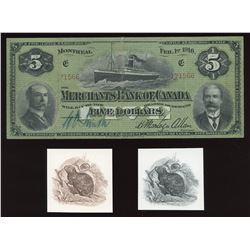 Merchants Bank of Canada $5, 1916