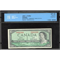 Bank of Canada $1, 1954 - Radar