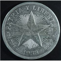 Cuba, Un Peso, 1933