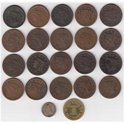 USA - Lot ofLarge Cents & Bonus