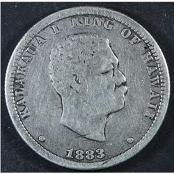 USA - Hawaii Quarter Dollar, 1883