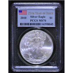 USA - 2010 Silver Eagle 25th Year of Issue