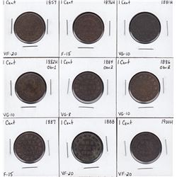 Canada Large Cent Vicky - Lot of 9