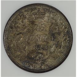 Canada 1872H Twenty-Five Cents