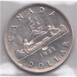 Canada 1935 Silver Dollar - JOP Counterstamp