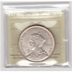 Canada 1935 Silver Dollar