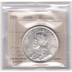 Canada 1936 Silver Dollar