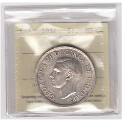 Canada 1937 Silver Dollar