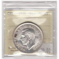 Canada 1938 Silver Dollar