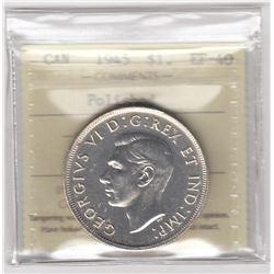 Canada 1945 Silver Dollar