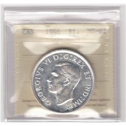 Canada 1946 Silver Dollar