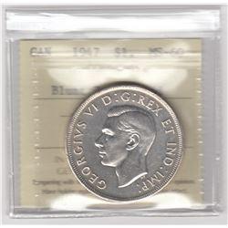 Canada 1947 Silver Dollar