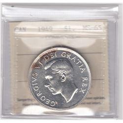 Canada 1949 Silver Dollar