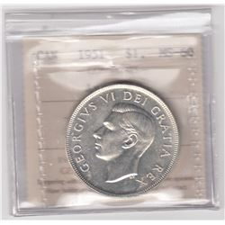 Canada 1951 Silver Dollar