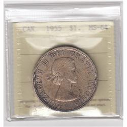Canada 1955 Silver Dollar