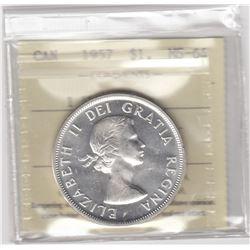Canada 1957 Silver Dollar