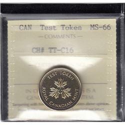 Canada Test Token - CH# TT-C16
