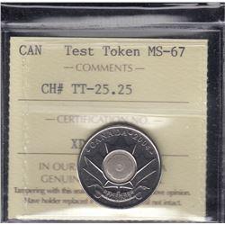 Canada Test Token - CH# TT-25.25