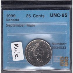 Canada 1999 September Twenty Five Cents Mule