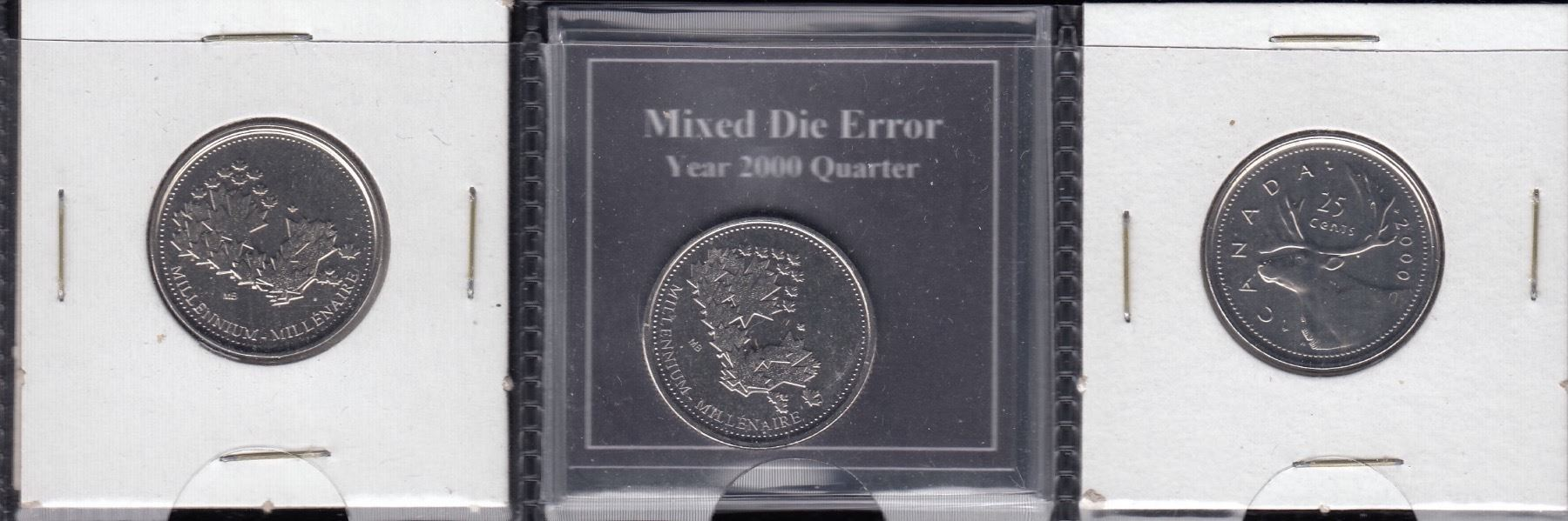 Canada 2000 Mule Twenty-Five Cents Medal/Coin Error